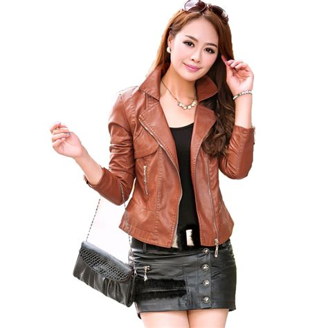 Fashion And Chocolate Womens Two by 2017 New Autumn Leather Jacket Fashion