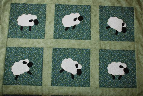 Black Patchwork Quilt - baa baa black sheep is ready to leave home artisan