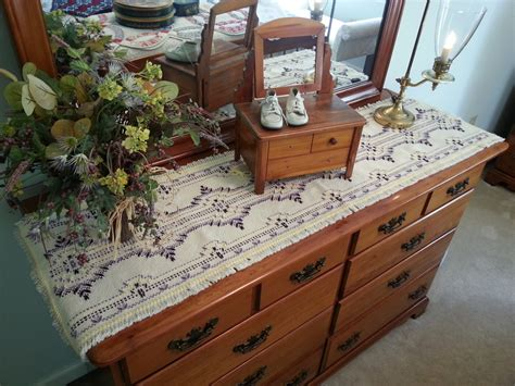 bedroom dresser runner buttercup table runner dresser scarf home decor doily spring