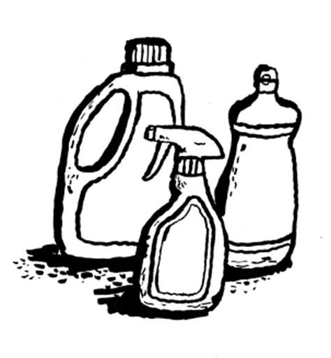 Drawing Of Cleaning Supplies