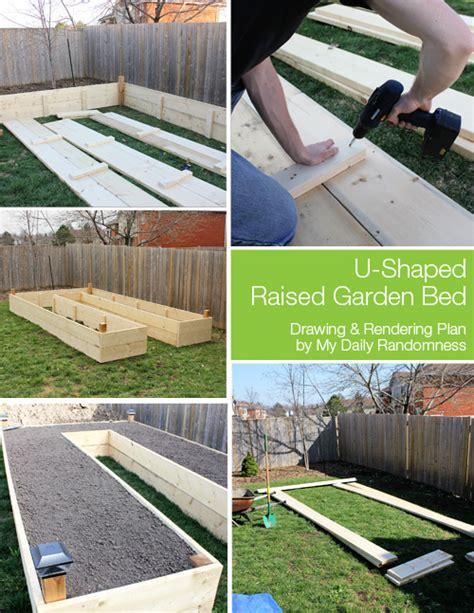 build  diy  shaped raised garden bed