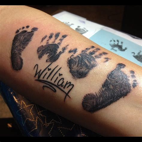 baby williams s hand and foot prints memorial tattoo the