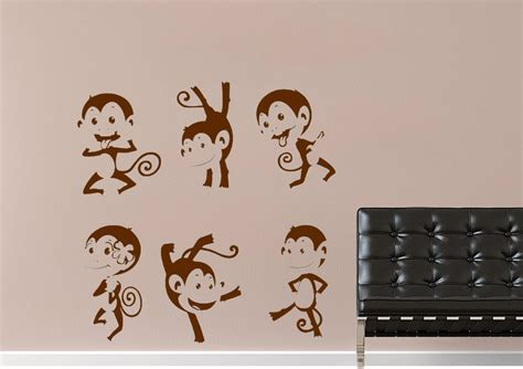 childrens wall stickers uk cheeky monkeys childrens wall stickers adhesive wall sticker