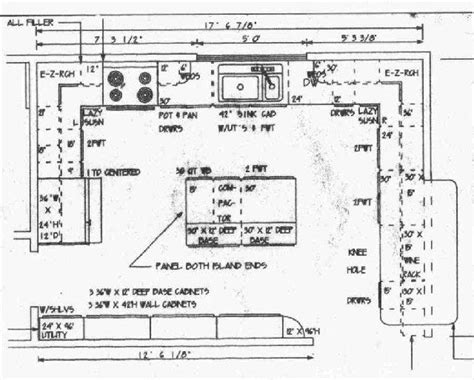 how to design a kitchen floor plan designing a kitchen floor plan stroovi