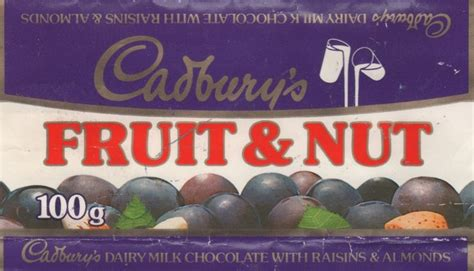 fruit e bars fail cadburys fruit and nut 100g chocolate and sweet wrappers