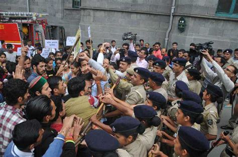 real rape section protesting abvp students violate section 144 scuffle with