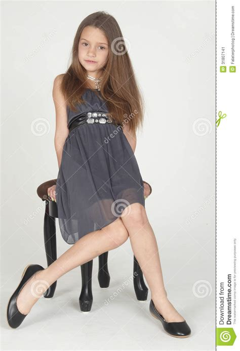 preteen pose preteen posing in a dress stock image image of natural