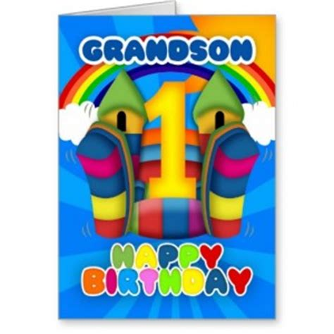 Birthday Card For Grandson 1st Birthday First Birthday Grandson Quotes Quotesgram
