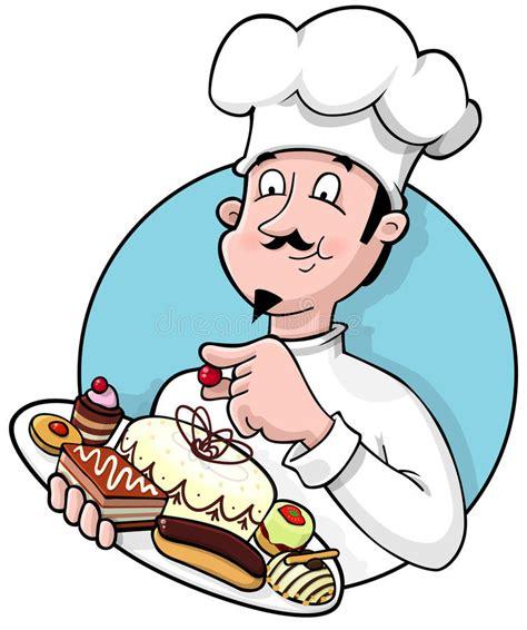 clipart cuoco cuoco unico di pasticceria illustrazione vettoriale