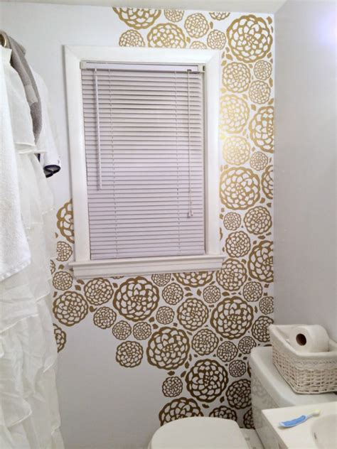 can i use wallpaper in a bathroom diy floral faux wallpaper