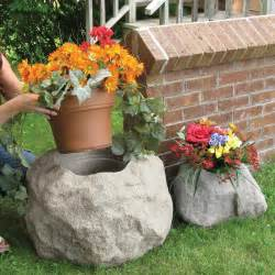 blossom boulders faux rock planters the green