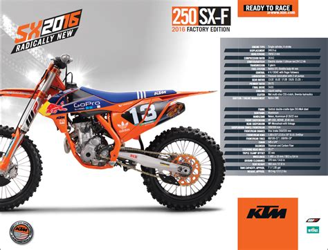 motocross action news 2016 factory edition ktm s dirt action