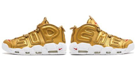 Harga Nike X Supreme Uptempo best look yet at the supreme x nike air more uptempo quot gold