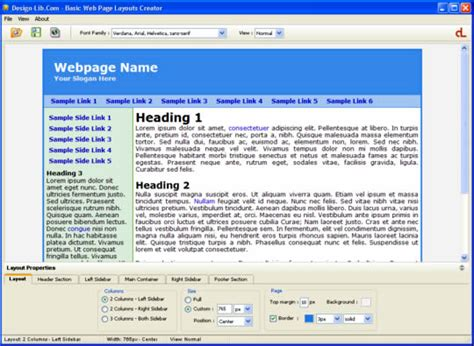 free download website layout maker 1 92 screenshot review downloads of freeware basic web page
