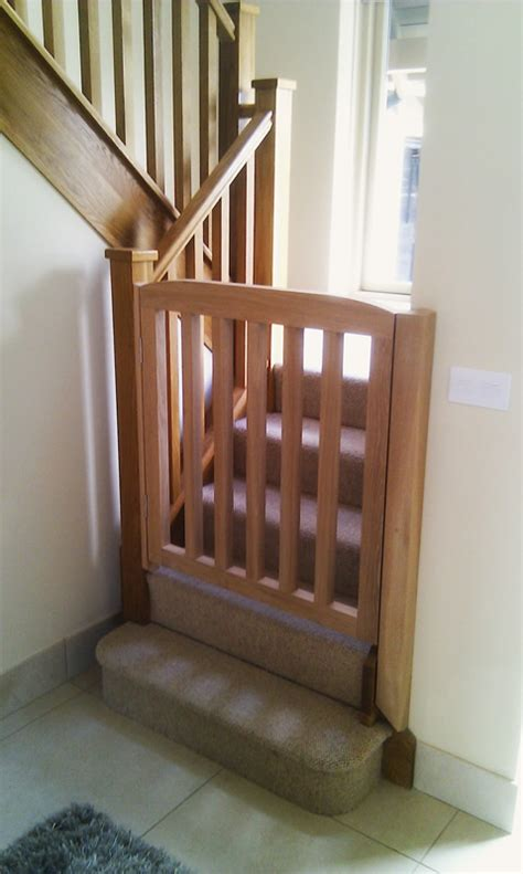 wooden stair gate images