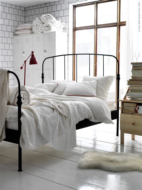 Ikea White Iron Bed Frame Simple Details Ikea Barometer Floor And Work L
