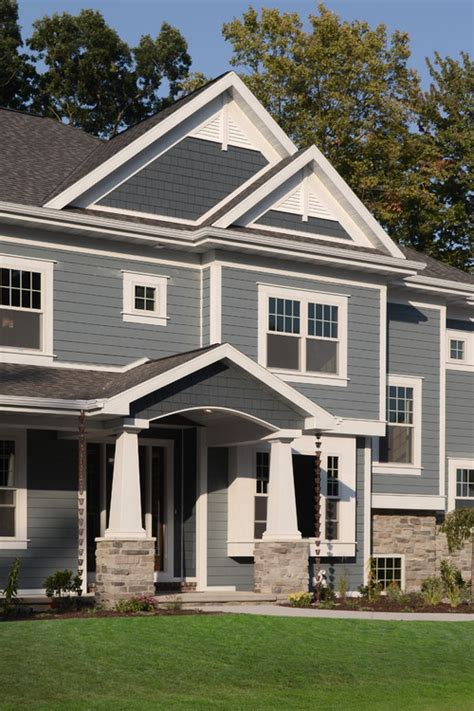 parade of homes 9 southview contemporary exterior is the hardie plank color combination boothbay blue with