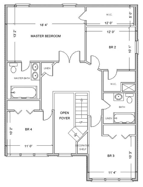 large building floor plan layout idea featuring flats