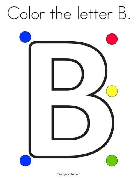 5 letter colors color the letter b coloring page twisty noodle