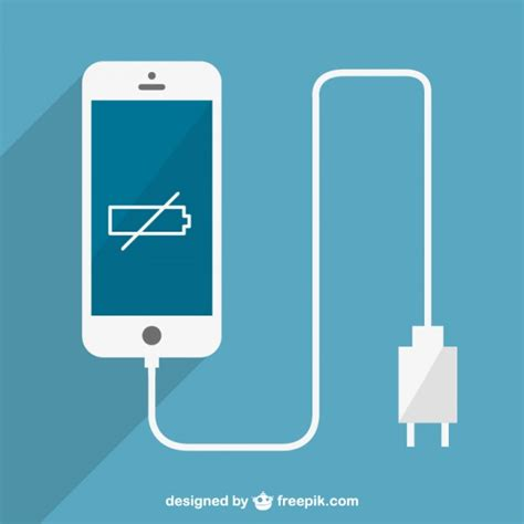 Free Search Without Charge Low Batter Smartphone Charging Vector Vector Free
