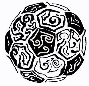 soccer tribal tattoos i would get this as a my style