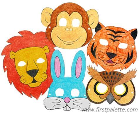 printable animal crafts printable animal masks craft kids crafts firstpalette com