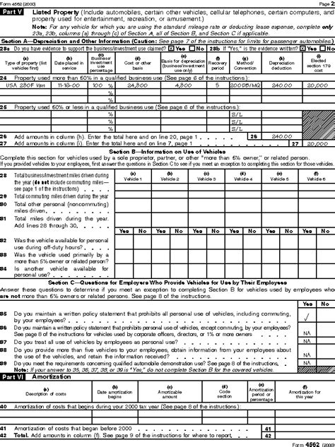 Form 4562 Worksheet by Publication 946 How To Depreciate Property Depreciation