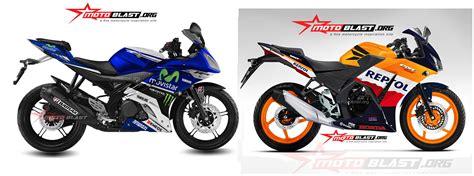 Sparepart Honda Cbr150r Lokal kompare fisik yamaha r15 lokal vs honda