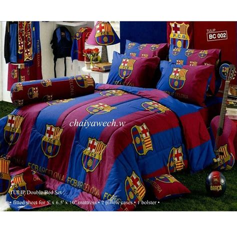 barcelona fc bedroom set barcelona fc football official licensed 4pcs bedding set