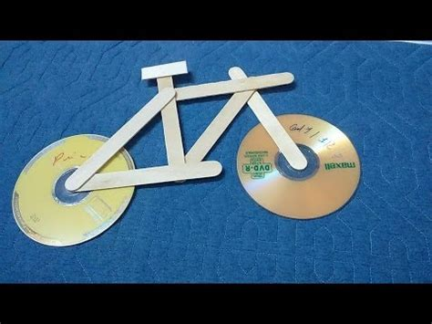 craft for kid easy make bicycle using cd and popsicle
