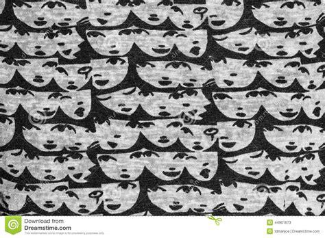 image human pattern face pattern fabric stock illustration image 44901673