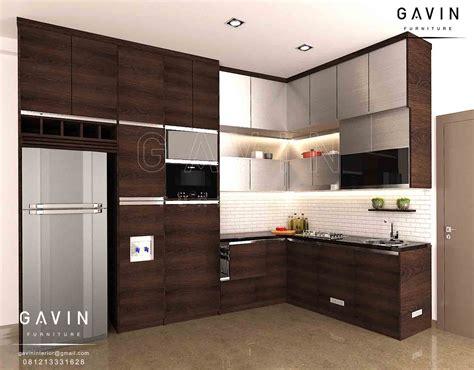 Jenis Dan Lemari Dapur gambar lemari dapur minimalis hpl coklat di bintaro
