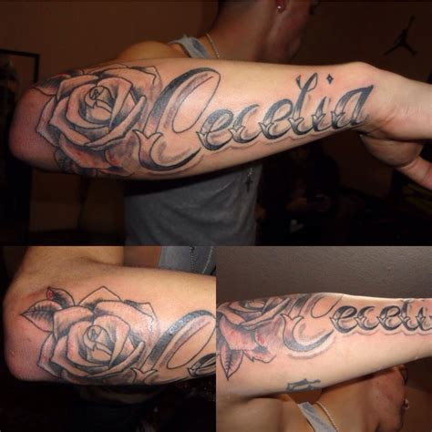 bicep name tattoo designs forearm name smink tattoos