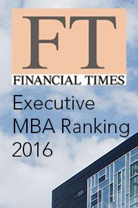 Financial Times Mba by Erneut Platz 44 F 252 R Den Global Executive Mba Wu