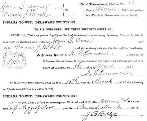 Boone County Marriage Records Boone