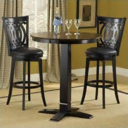 Dining Table With Bar Stools Hillsdale Dynamic Designs 5 Pub Table And Stools Set 4975ptbblksvd