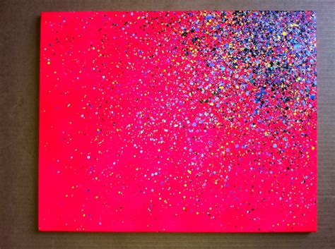 spray paint canvas 16x20 paint splatter canvas