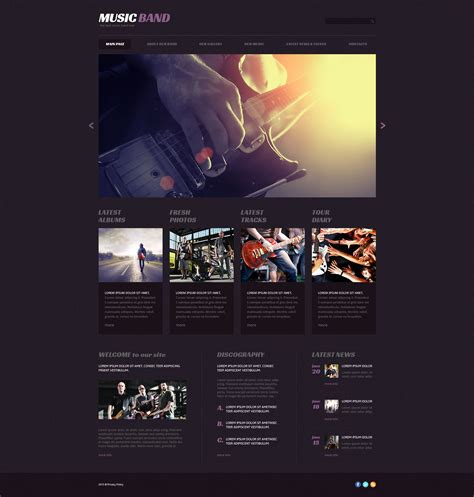themes wordpress music band music band responsive wordpress theme 54646