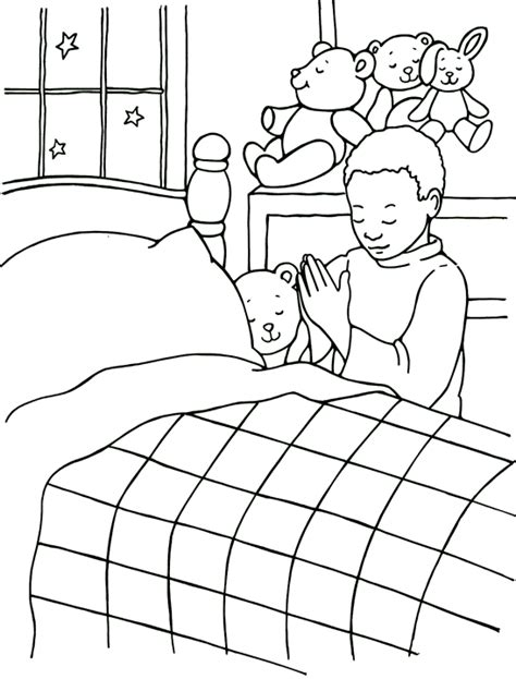 coloring page prayer god hears my prayers coloring page