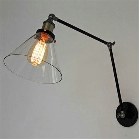 swing arm l springs retro industrial lighting loft swing arm wall sconce home