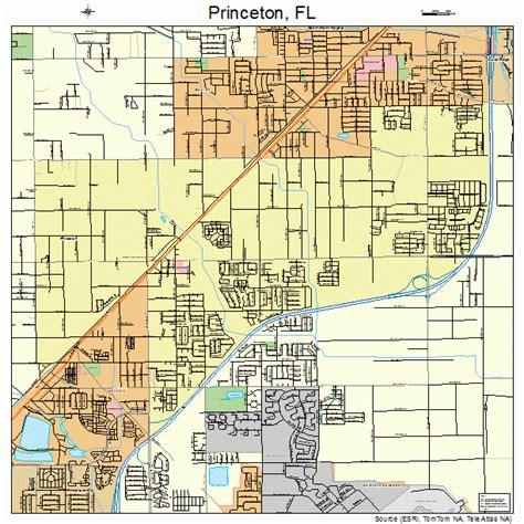 princeton map princeton florida map 1258975