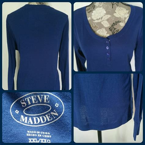 Steve Madden T Shirts For by Steve Madden Sz Steve Madden Ls Henley T Shirt From Great Brands Low Prices S