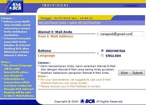 bca sms banking cara daftar internet banking bca dan cara aktivasinya