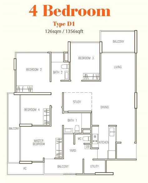 4 bedroom floor plan hillion residences all property launches