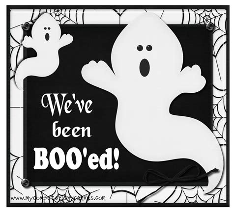 free printable you ve been booed sign my computer is my canvas freebie boo ed sign 4 recipes