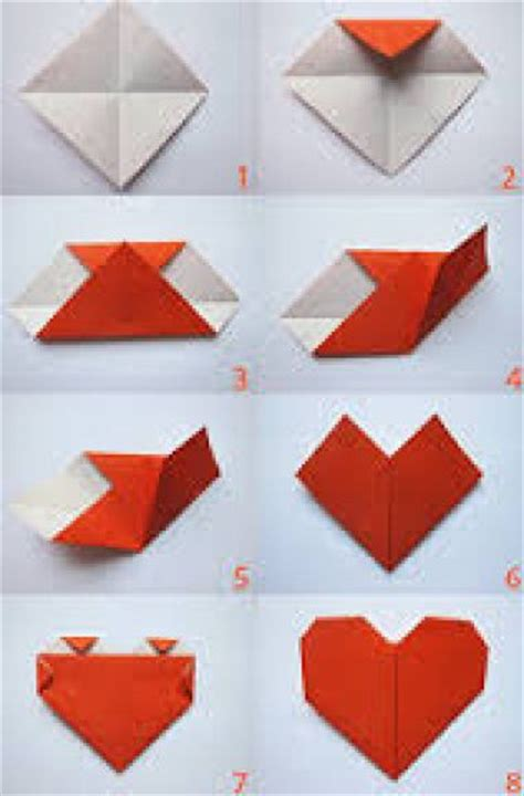 How To Make A Paper L For - comment faire une origami de c蜩ur sciences jeux animations