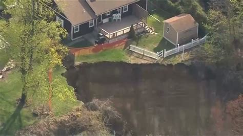 backyard sinkhole backyard sinkhole threatens two new jersey homes toronto