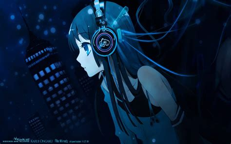 anime music girl wallpaper anime girl listening to music anime manga wallpaper