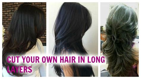 how to cut layers without cutting the sides how to cut your hair easily in long layers at home without