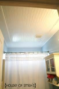 bathroom ceiling ideas beadboard ceiling in bathroom